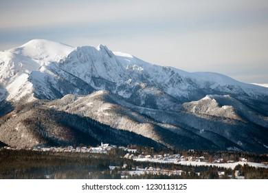 view to Murzasichle, Giewont Mountain, Tatra Mountains, Tatra National Park, Poland