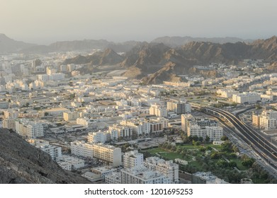 View of Muscat city, Wadi Kabir, Oman