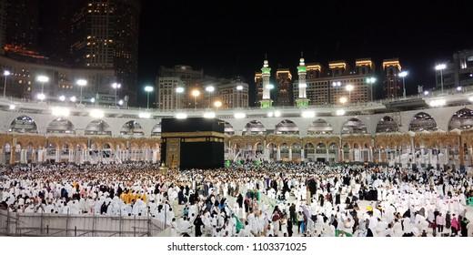 View of Muslims Prayer and Towaf in makkah Saudi-25/4/2018,