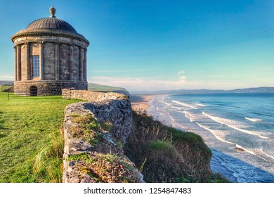 View of Mussenden Temple, Northern Ireland