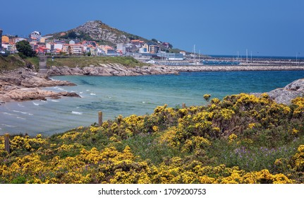 View of Muxia when walking on the Way of St. James, Galicia, Spain
