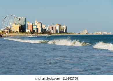 View of Myrtle Beach South Carolina in evening
