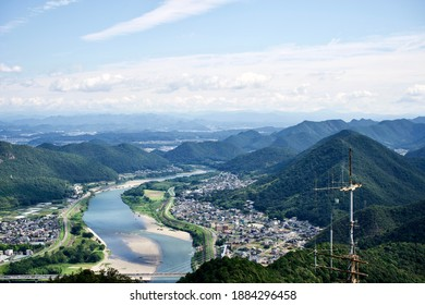 The view of Nagara river from Gifu castle tower.
