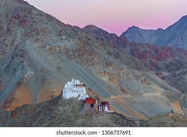 View of Namgyal Tsemo Monastery at Leh Town, Ladakh, Jammu and Kashmir, India