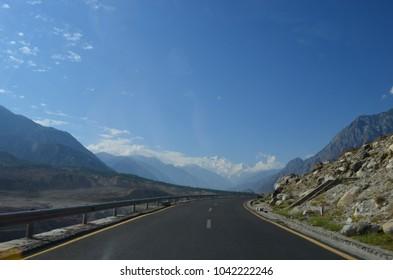 View Of Nanga Parbat On Karakoram Highway, Bunji, Gilgit Baltistan, Northern Pakistan