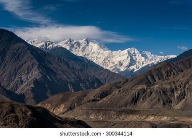 View of Nanga Parbat on Karakoram highway, Pakistan