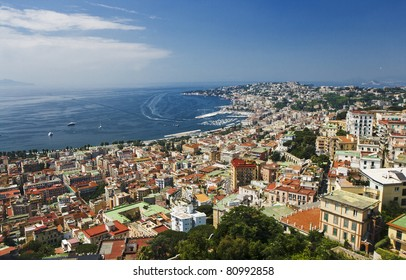 A view of Naples from the Sant'Elmo Castle, on the hill of the Vomero.
