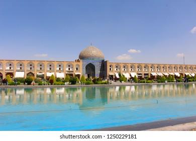 View of Naqsh-e Jahan Square and Sheikh Lotfollah Mosque in Isfahan, Iran