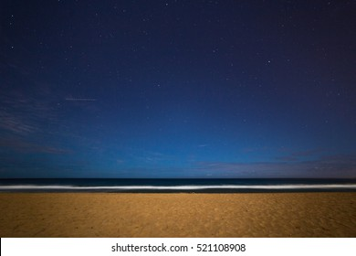 View from Narrabeen Beach at night