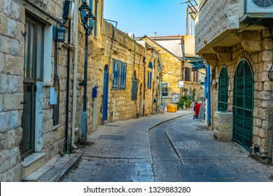 View of a narrow street in Tsfat/Safed, Israel