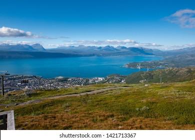 Aussicht von Narvikfjellet auf Ofotfjord in Narvik in Norwegen / Skandinavien