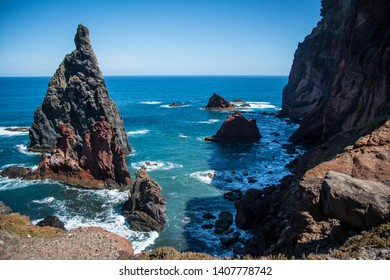View. Nature. Cliffs. Rocks. Vulcanic island