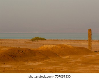 View of nature and landscape from the red sea in Sinai Egypt