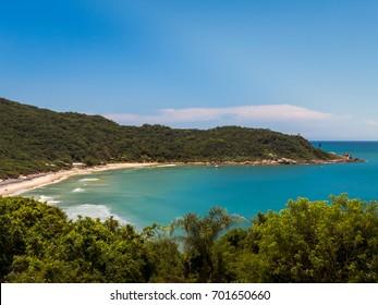 View of the Naufragados beach, in Florianopolis, Brazil.