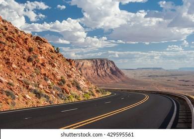 View of Navajo and Hopi Nation Reservations in Arizona, USA