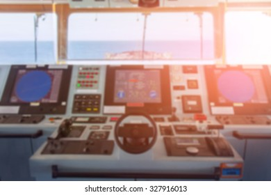View of the navigation panel - blurred photo.
