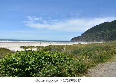 View of Neahkahnie Beach in Manzanita, Oregon