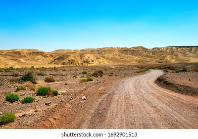View in Negev desert on a hot summer day, Israel