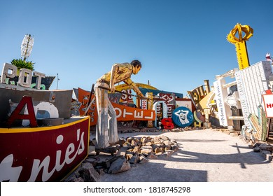 View of Neon museum . One of the most famous and unique place in term of musuem in the heart of Las Vegas , Nevada United States of America  - 20 Sep 2018
