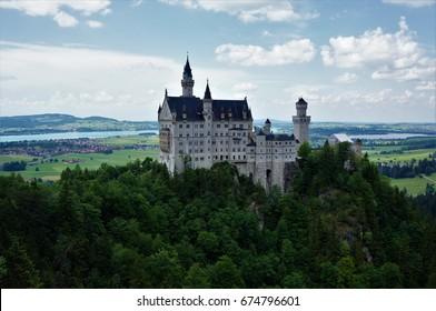 View of Neuschwanstein Castle, Bavaria, Germany