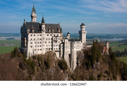 view of the Neuschwanstein castle from bridge