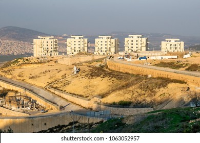 view of the new district - Har Yona in the city of Nazareth Illit, Lower Galilee, Israel