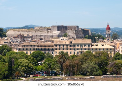 View of New Fortress, Corfu, Greece