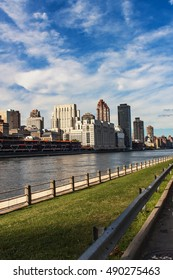 View at New York City from Roosevelt island
