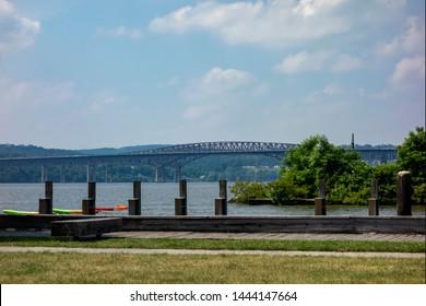 A view of the Newburgh Beacon bridge from Long Dock Park, Beacon, New York