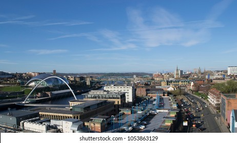 A view of Newcastle upon Tyne, taken from the site of the old Tyne Tees Television Studios