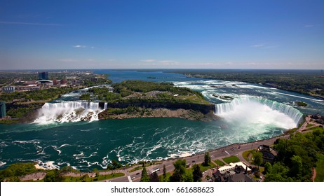 The view of the Niagara Falls, Ontario, Canada