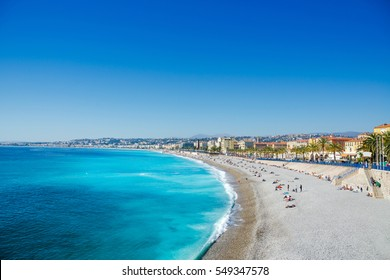 View of Nice, mediterranean resort, Cote d'Azur, France