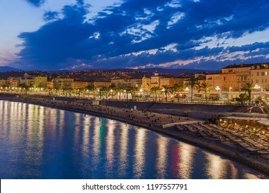 View of Nice in Provence France travel and architecture background