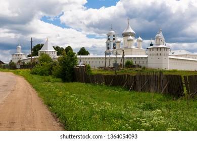 View of  Nikitskiy monastery at summer day in Pereslavl-Zalessky,  Russia