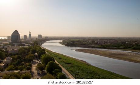 A  view of Nile river in Khartoum - Sudan