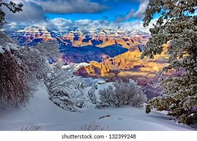 View of North Rim from Yaki Point, Grand Canyon South Rim, Arizona