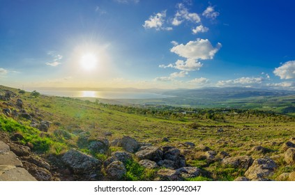 View from the north of the Sea of Galilee (Kinneret Lake). Northern Israel
