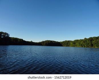View of North Shattuck Lake, New Auburn, Wisconsin