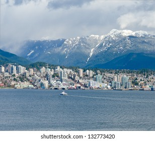 View of the North Vancouver BC , Canada.