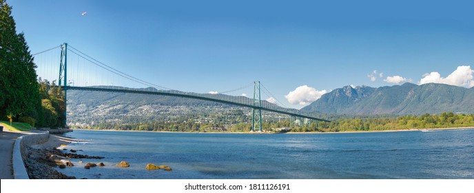 View of North Vancouver from Stanley Park, Vancouver British Columbia