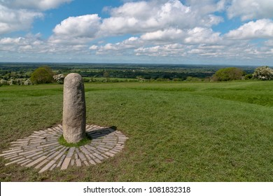 View northwest from Hill of Tara looking across County Meath with views of Counties Westmeath and Cavan.