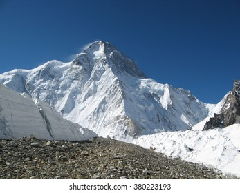 View of the North-Western ridge of K2 second highest mountain of the World after Everest