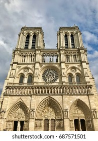 a view of Notre Dame cathedral in Paris, France