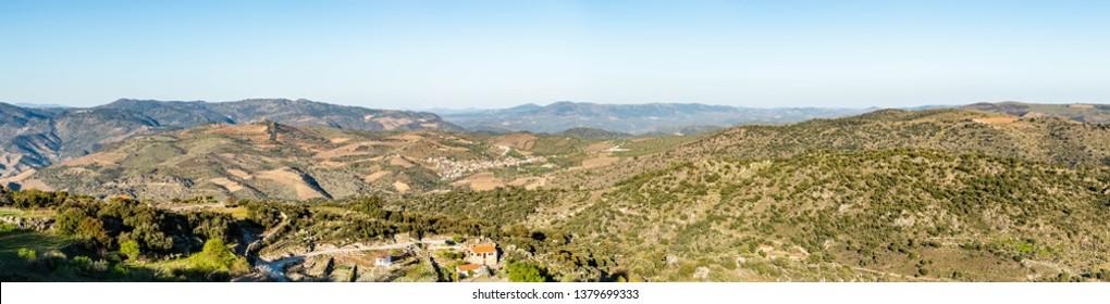 View from Numao Castle. Council of Vila Nova de Foz Coa. Portugal. Douro Region.