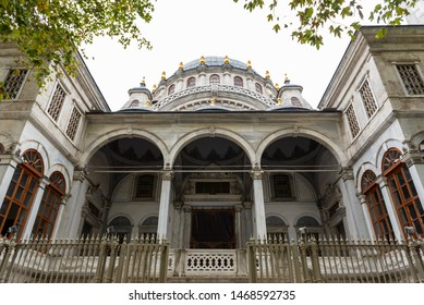 View of Nusretiye Mosque which was built in 1823-1826 by Sultan Mahmut located in Tophane district of Beyoglu, Istanbul, Turkey.25 July 2019