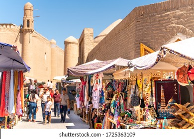 The view o famous bazaar street in Khiva