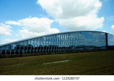 View o the new NATO headquarters during the 2018 NATO Summit in Brussels, Belgium on July 11, 2018