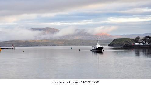 A view of Oban Bay. Oban, Scotland