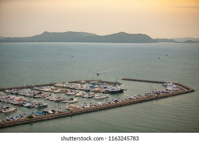 View of Ocean Marina Pattaya in Pattaya beach, Chonburi, Thailand