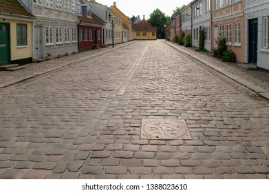 View of Odense town in Denmark